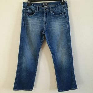 Lucky Brand Cropped Jeans by Gene Montesano Large